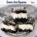 For the Coconut lover, who also can't resist chocolate. This square is fit for a Queen.